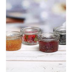Circle Glass Honey Bee Embossed Jam Jar found on Polyvore featuring polyvore, home, kitchen & dining, food storage containers, glass jars, lidded glass jars, bee jar and honey bee jar