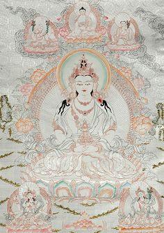 Image of Amitayus - The Buddha of Long Life, a reflex form of the Buddha Amitabha. Buddha Buddhism, Buddha Art, Tibetan Buddhism, Tibetan Symbols, Tibetan Art, Amitabha Buddha, Mahayana Buddhism, Thangka Painting, Thai Art