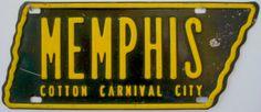Memphis - Cotton Carnival City - Memphis, Tenn. show license plate by ⓑⓘⓡⓒⓗ from memphis, via Flickr