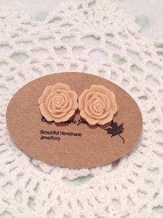 A personal favourite from my Etsy shop https://www.etsy.com/au/listing/492313078/stud-earrings-cream-rose-cameo-large