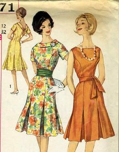 Vintage  Simplicity 3871 One Piece Dress with by RomasMaison, $16.00