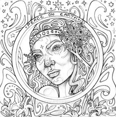 "Adulting coloring pages ~ iColor ""Mermaids"" 