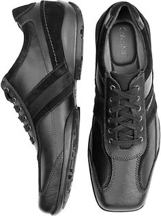 Shoes - Calvin Klein Black Active Lace-Up Shoes - Men's Wearhouse