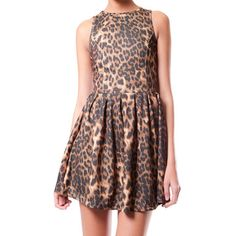 Animal Print Dress Brown, 32€, now featured on Fab.