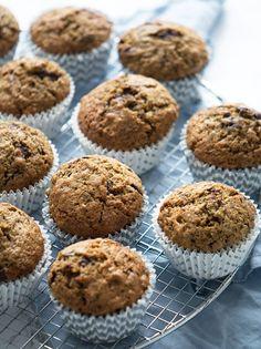 Squashmuffins - opskrift på lækre saftige muffins med squash Squash, Frisk, Food And Drink, Sweets, Breakfast, Desserts, Recipes, Cupcake, Cakes