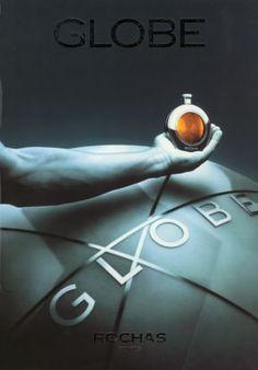 """""""Globe para o homem. Seu mundo é o mundo"""", criado por Jean-Claude Ellena, em 1990."""