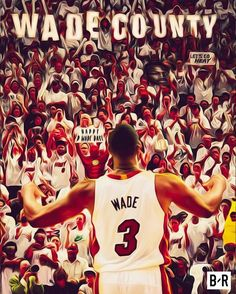 Bleacher Report - Social Moments - Illustration for D Wade Day Mvp Basketball, Miami Heat Basketball, Nba Miami Heat, Dwyane Wade Wallpaper, American Airlines Arena, Basketball Highlights, Save The Last Dance, Nba Pictures, Lebron James