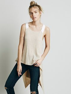 Jen in Street or at House, Pretty Cool Free People Utility Sweater Tank at Free People Clothing Boutique