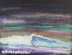 "Surf Art ""WAVE – Left Break Shoulder at Dawn""  http://hirokinagasawa.com/archives/4378"