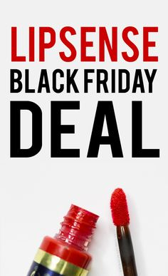 LipSense Black Friday Deal 2017. Get smokin' hot deals on your favorite Senegence products. #lipsense #lipsenseblackfriday