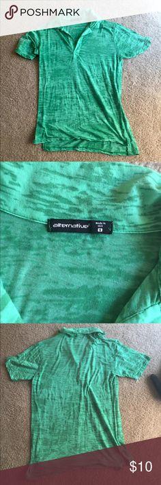 Alternative Apparel green burnout polo - size sm Alternative Apparel green burnout polo - size small. Super soft material! Excellent condition. Alternative Shirts Polos