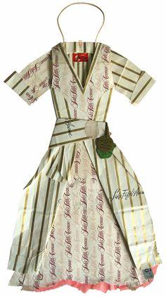 ℘ Paper Dress Prettiness ℘ art dress made of paper  by Peter Clark
