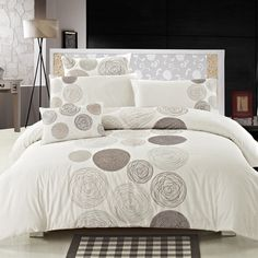 Seasons Collection Circles Duvet Cover Set in Ivory - Beyond the Rack Beyond The Rack, Bedding Collections, Kitchen And Bath, Duvet Cover Sets, Decoration, Bedding Sets, Comforters, Home Improvement, Sweet Home