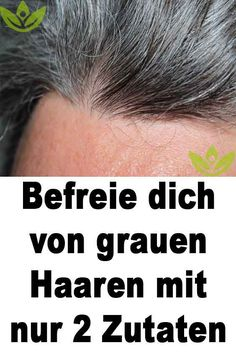 Befreie dich von grauen Haaren mit nur 2 Zutaten Livre-se dos cabelos grisalhos com apenas 2 ingredientes Haar Grey Hair Care, Grey Ombre Hair, Long Gray Hair, Best Beauty Tips, Diy Beauty, Beauty Hacks, Grey Hair Remedies, Colored Hair Tips, Diy Wedding Hair
