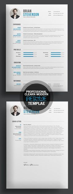 Great, clean resume design! For more resume design inspirations click here: www.pinterest.com/sheppardaaron/-design-resumes/ Creative Resume Design, Resume Style, Resume Design, Curriculum Vitae, CV, Resume Template, Resumes, Resume Format