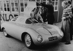 Otto glockler's Porsche Special . . Otto Mathe' standing by