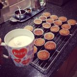 Banana Oat Muffins are a great 'make-ahead' treat to pack in with your lunch; enjoy as a quick breakfast snack or have with a cuppa tea. Banana Oat Muffins, Banana Oats, Muffin Recipes, Fern, Glass Of Milk, Sugar Free, Healthy Eating, Gluten Free, Tableware