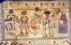 Bet Alfa Synagogue National Park:  The mosaic depicts the moment before God stops Abraham from sacrificing Isaac