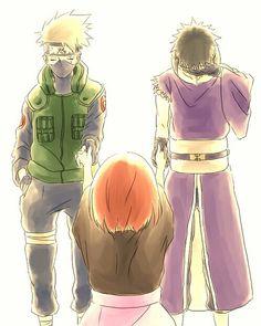 Team Minato: Kakashi, Rin and Obito. Naruto Shippuden, Boruto, Madara Uchiha, Shikamaru, Kakashi Hatake, Naruhina, Shikatema, Sasuke, Anime Naruto