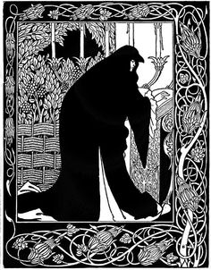 Aubrey Beardsley - Illustration - Art Nouveau - How Queen Guinevere made her a nun.