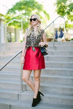 #dresscolorfully pop of red