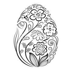 T T floral Easter egg Easter Coloring Pictures, Easter Bunny Colouring, Easter Egg Coloring Pages, Colouring Pages, Coloring Pages For Kids, Coloring Books, Flamingo Coloring Page, Easter Egg Pattern, Easter Crafts