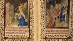 The Art of Illumination: The Limbourg Brothers and the Belles Heures of ... From the Metropolitan Museum, a book of hours. The border frame includes a coat of arms.