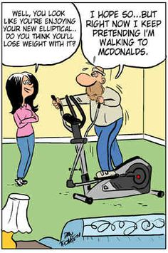 Do you like the elliptical? LOL, gym humor, fun, fitness humor, joke, funny. - If you like this pin, repin it, like it, comment and follow our boards :-) #FastSimpleFitness