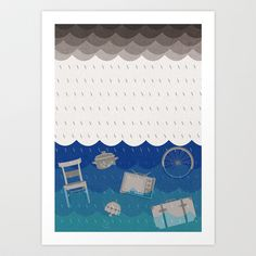 Great Tides of Disparate Things Art Print by Emma Fitzgerald - $16.00