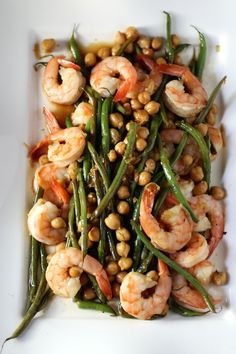 Global Shrimp: Haricots Verts, Chickpeas, Feta with a Korean Marinade #SensationalSides