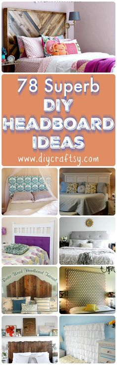 Check out this mind-boggling collection of 78 DIY headboard ideas that are affordable, stylish and most importantly, easy-to-build at home!