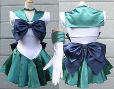 Sailor Neptune Michelle cosplay costume Sailor Moon dress Scouts costume