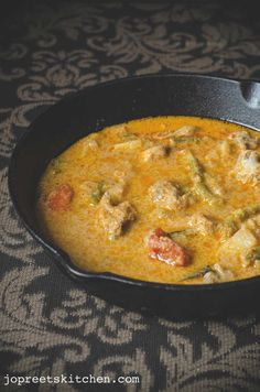 Chicken, Beans & Potato Curry, a mild spicy stew / curry based on coconut made with indian spices. I have always cooked mutton with potatoes since it gives unique flavor to the curry. Potato goes well