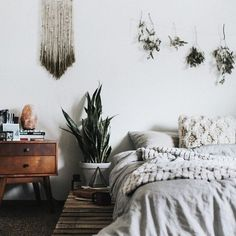 #UOONYOU - Urban Outfitters | Bedroom | Hanging Plants, Pallet Bedframe and Urban