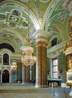 Interior of the Cathedral of Ss. Peter and Paul in Saint-Petersburg, Russia