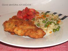 Cinco sentidos na cozinha: Panados de porco com parmesão e ervas aromáticas e...