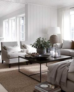 50 Easy And Simple Neutral Living Room Design Ideas. House decoration trends come and go but neutral tones remain the safest option for most individuals and families, or if you're renting, . Interior Design Living Room, Living Room Designs, Living Room Furniture, Living Room Decor, Furniture Layout, Modern Furniture, Living Area, Living Room Remodel, Apartment Living