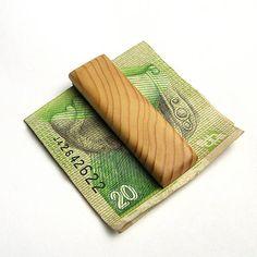wlkr / Drevené spony na peniaze / Drevená spona na peniaze - smreková Money Clip, Money Clips