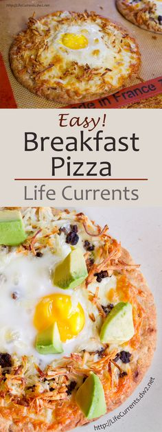 Breakfast Pizza with mozzarella, hash browns, eggs, black beans, and avocado. It's the perfect way to start your day! <3 recipe:: http://wp.me/p1Nzoa-4vg