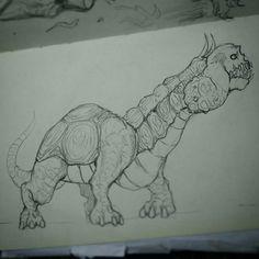 Turtle + skeleton simple design Hope u like it.  #sketch #monster #creepy #creature #creaturesdesign #monstersdesign #turtle #pencil