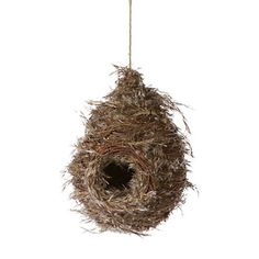 feather and twig birdhouse