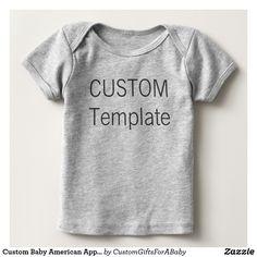 Custom Baby American Apparel T-shirt Blank