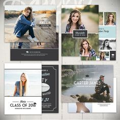 16 best Grad Announcement Templates images on Pinterest | Graduation ...