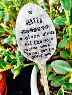 Pet Memorial Pet Memorial Spoon Garden Marker by SweetThymeDesign