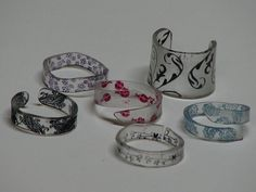 shrinky dink charms n rings001 by ronijj, via Flickr