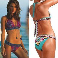Bikinis Women 2017 Print Floral Swimsuits Brazilian Push Up Bikini Set Retro Bathing Suits Plus Size Swimwear Female Floral Swimsuit, Push Up Swimsuit, Bikini Set, Bikini Swimsuit, Retro Bathing Suits, Boho Swim Suits, Brazilian Swimwear, Swimsuit Pattern, Plus Size Swimwear
