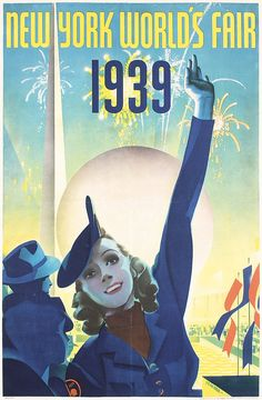 Original 1939 New York World´s Fair Poster STAHLE - by PosterConnection Inc.