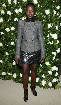 Lupita Nyong'o in Chanel Couture is Totally Inspiring Our Holiday Party Outfit Planning