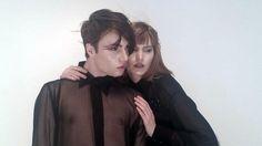 behind the scenes: TOP OR BOTTOM  #toporbottom #top #botom #baviglanca #photoshoot #fashion #designer #fur #coat #harness #leatherharness #bdsm