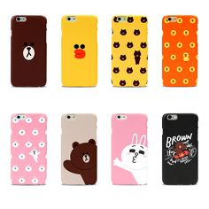 LINE FRIENDS BROWN & CONY Character Graphic Case Cover For Apple iPhone 6  #LINEFRIENDSxDESIGNSKIN #LINE #LINEFRIENDS #BROWN #CONY #phonecase #iphone #cute #iphone6 #smartphone #polycarbonate